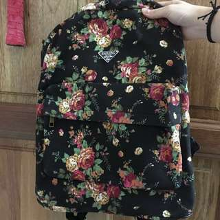 Brand new floral bag pack