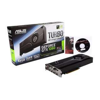 ASUS GeForce GTX 1060 TURBO-GTX1060-6G 6GB