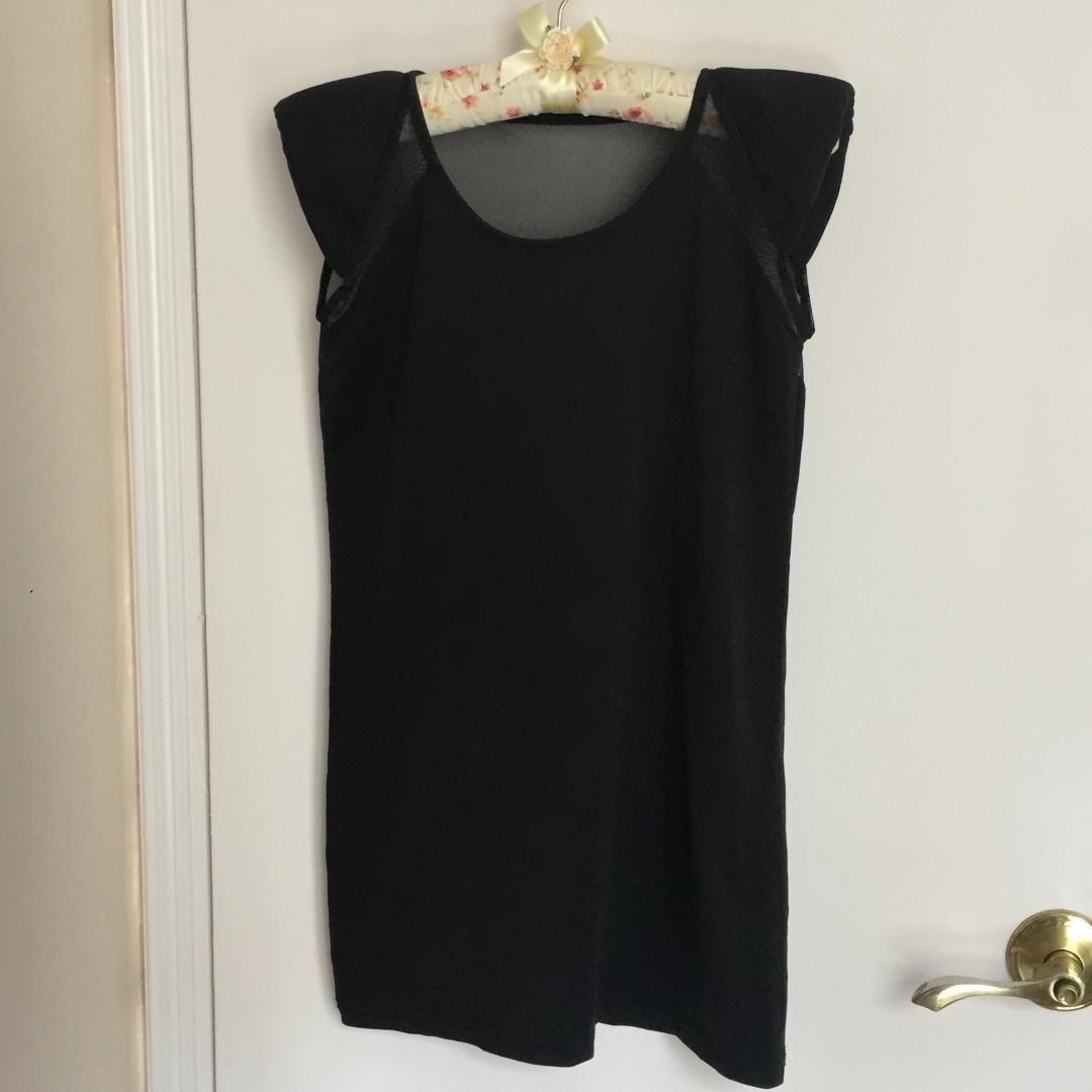 90% New 女裝 黑色 短裙 透視 小性感 包郵