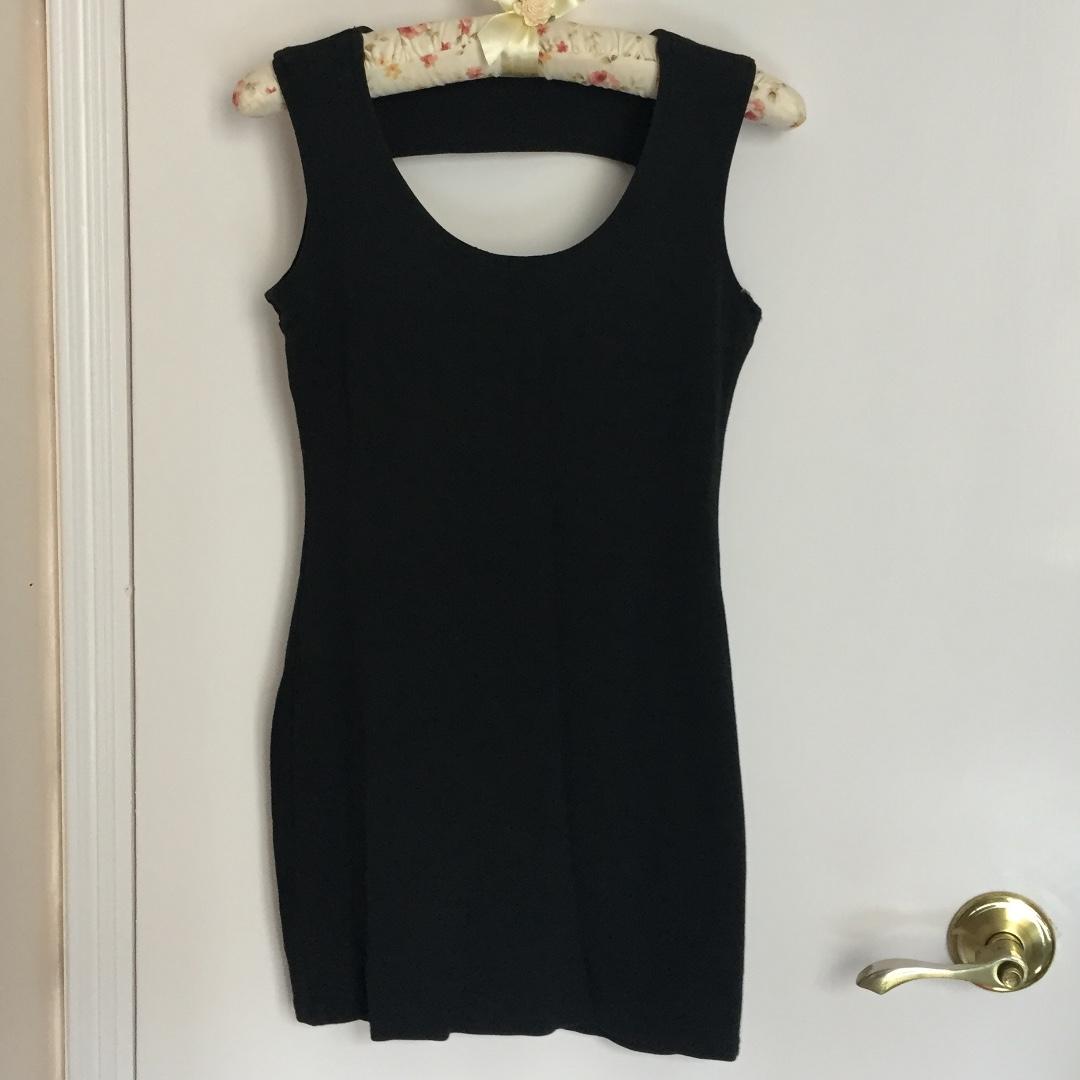 95% new 黑色 連身裙 貼身 小性感 短裙 包郵
