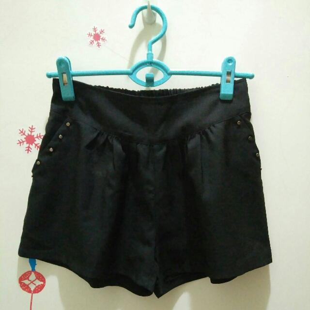 黑鉚釘寬褲裙#雙十一女裝出清