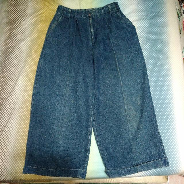 流行單寧牛仔寬褲