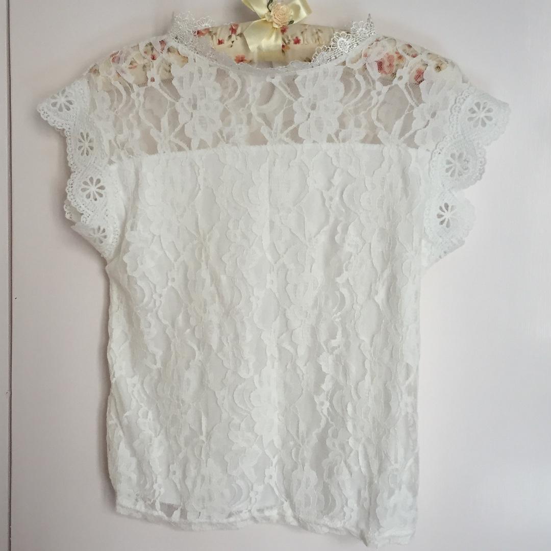 全新 白色 女裝 上衣 蕾絲 Lace 性感 露背 包郵