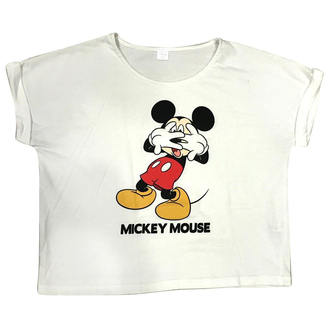古著🐭原宿 WEGO 迪士尼 米老鼠 MICKY 驚訝 米奇 短T