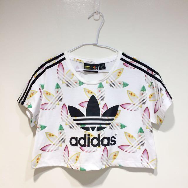 Adidas Originals 花紋 短版 短袖上衣 AO3156