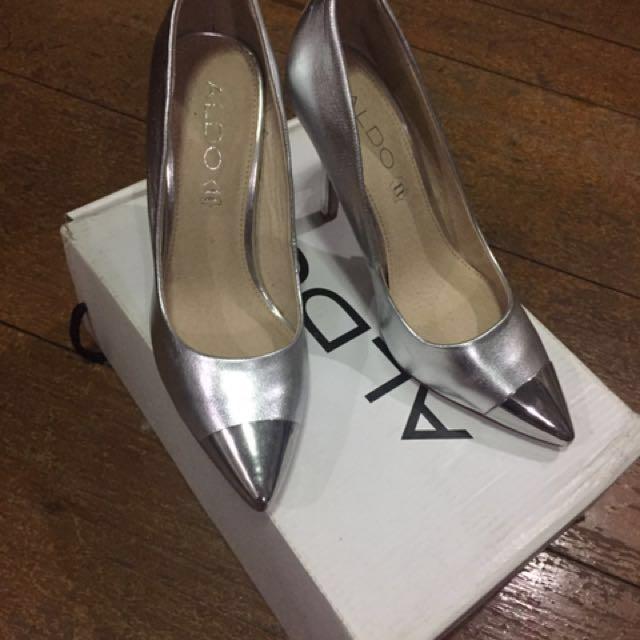 Aldo Silver stilettos