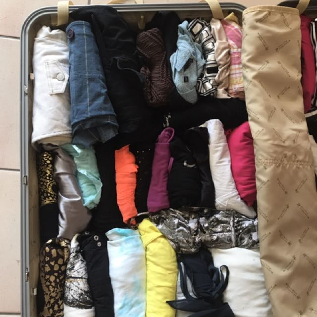 ALL Suitcase full of clothes!