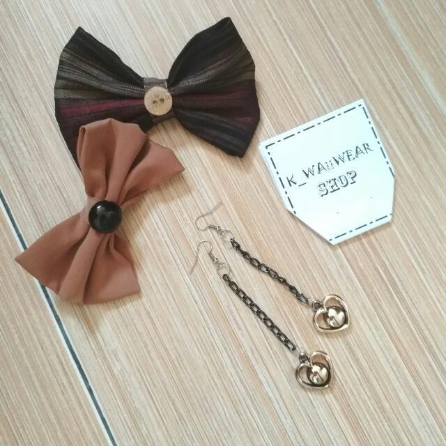 Anting Fashion Love Earrings Seri Black-gold