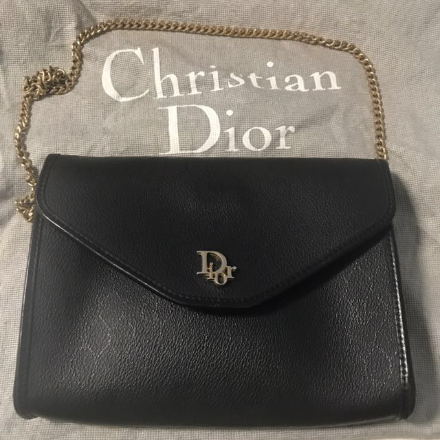 Authentic Christian Dior clutch crossbody bag - vintage, Luxury ... 9425f818e4