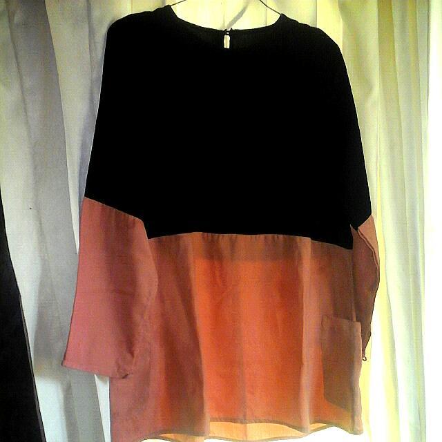 blouse/ tunik two tone