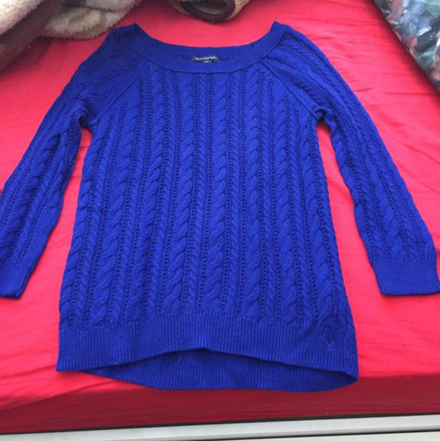 Blue American Eagle Knitted Sweater