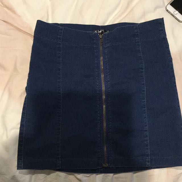 Blue denim look Skirt