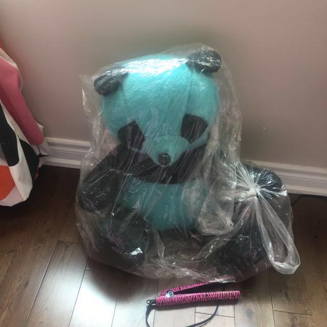 Blue teddy bear- NEED GONE