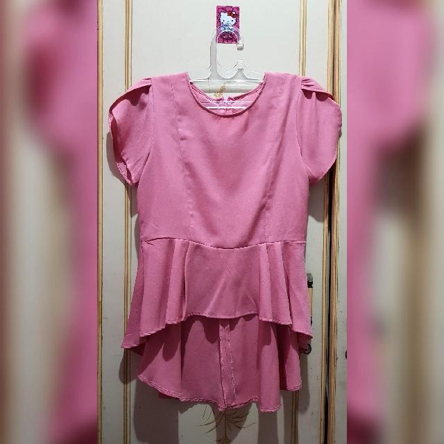 Blushed pink blouse