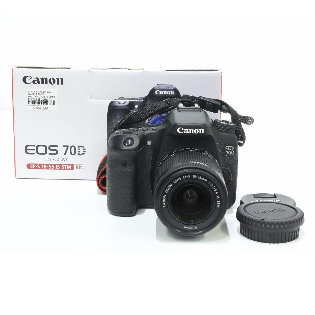 Canon Eos 70d 18 55mm Stm Sc 10k Malaysia Kamera Di Lensa 55 Is Dslr Kit Carousell
