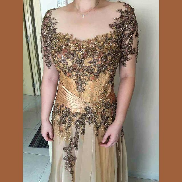 Champagne Elegant Gown