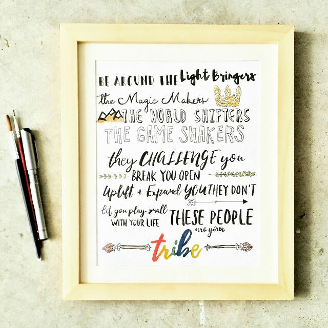 customized motivational quote cartoon doodle farewell birthday