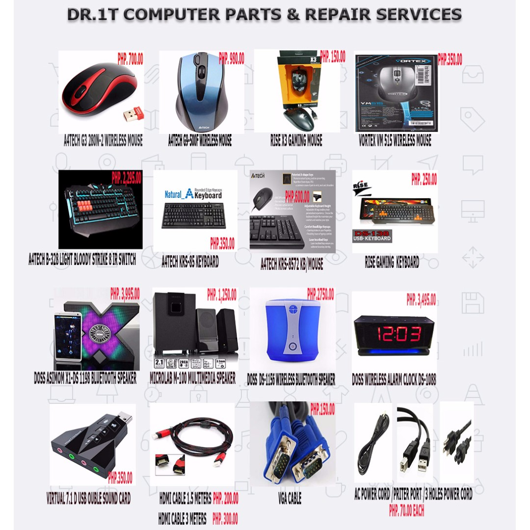 Dr1t Computer Parts And Repair Services Electronics Keyboard Wireless Mouse Combo Hk 3800 Accessories On Carousell