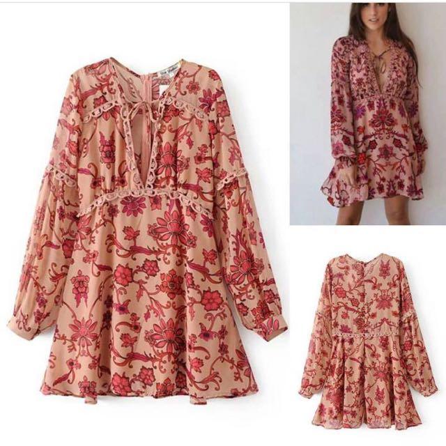 Dress Outer Bunga