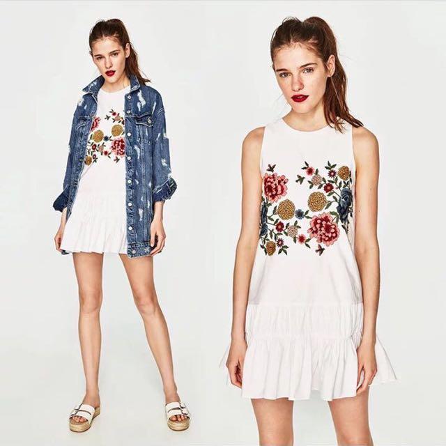 Dress Putih Bunga2