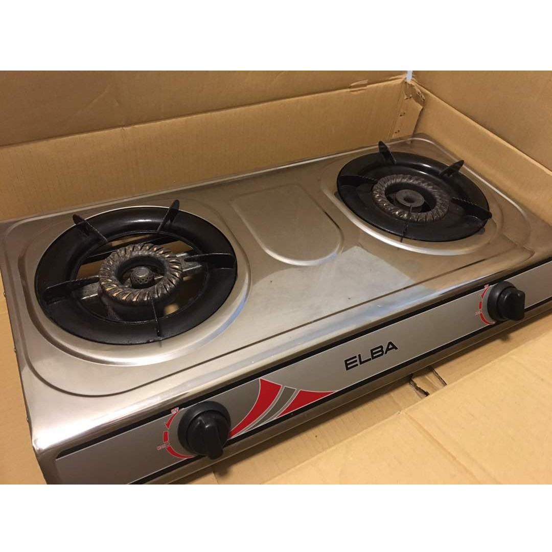 Elba 5260ss Stainless Steel Gas Cooker Stove 2 Burner Kitchen