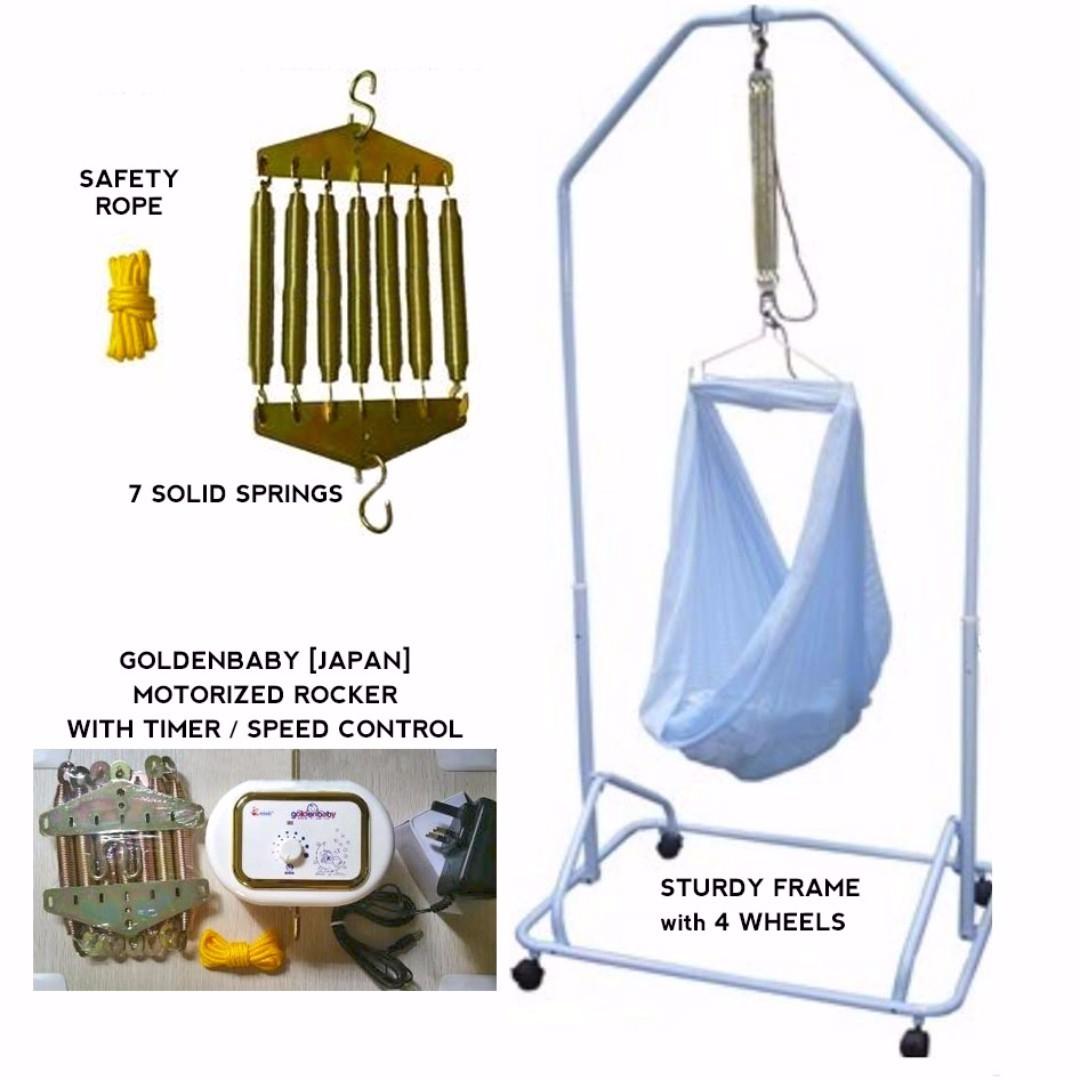 photo photo photo electric baby hammock cradle yaolan auto rocker golden baby brand      rh   sg carousell