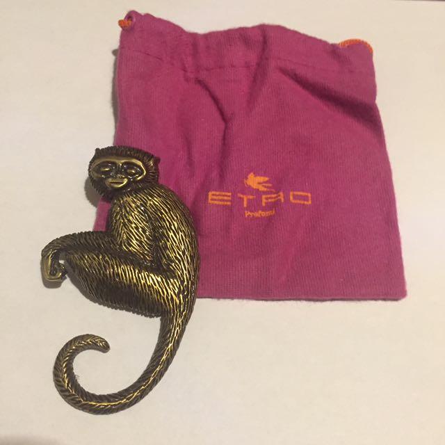 Etro Monkey Brooch