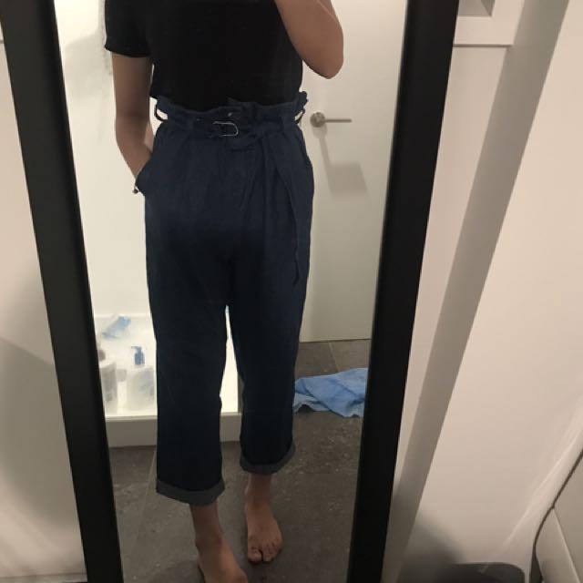 Flowers jeans