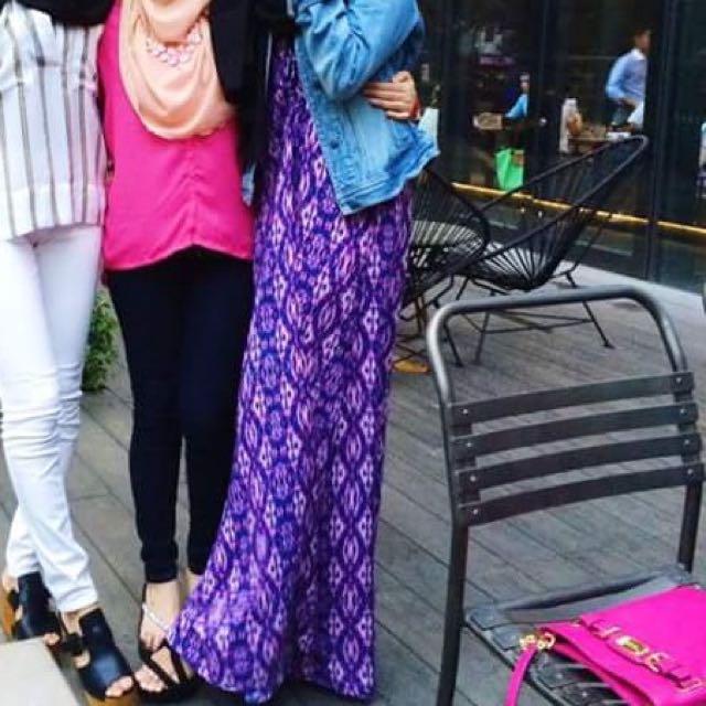Forever21 Purple Maxi Dress
