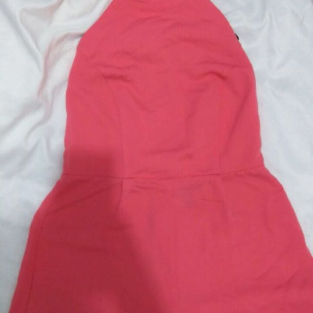Forever 21 backless jumpsuit Pink