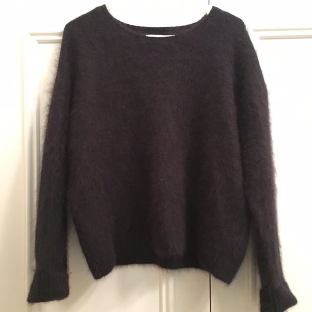 GORMAN Angora Fur Black Jumper