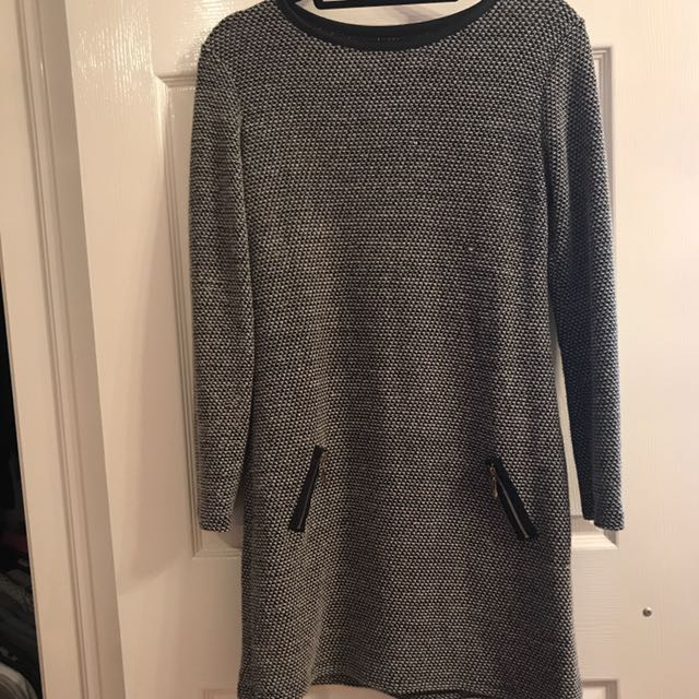 Grey cozy dress