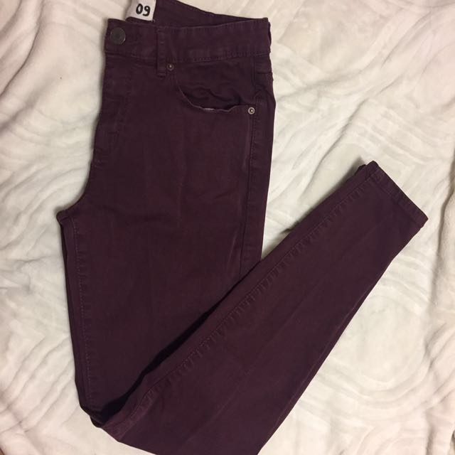 GRG Maroon high waist pants