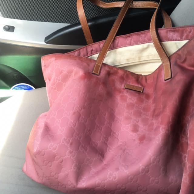 Gucci Sima Tote Nylon Bag