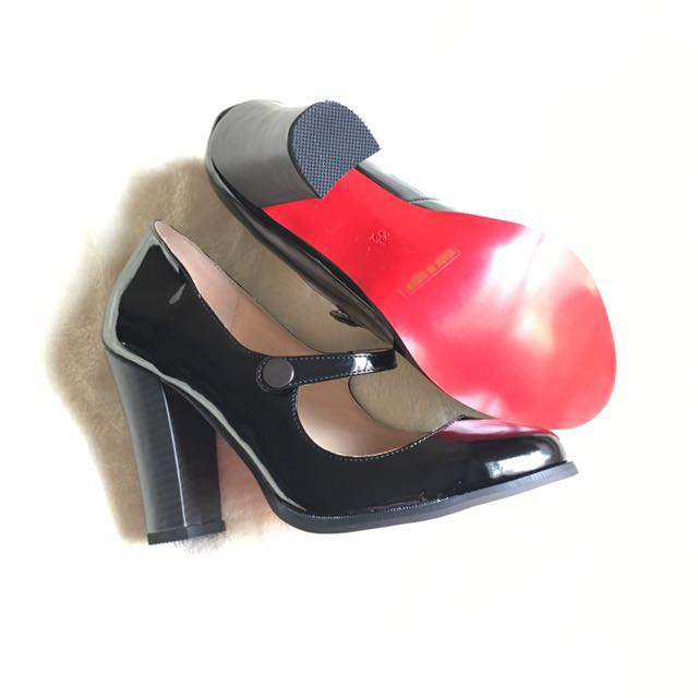 Handmade red sole Mary Jane shoes