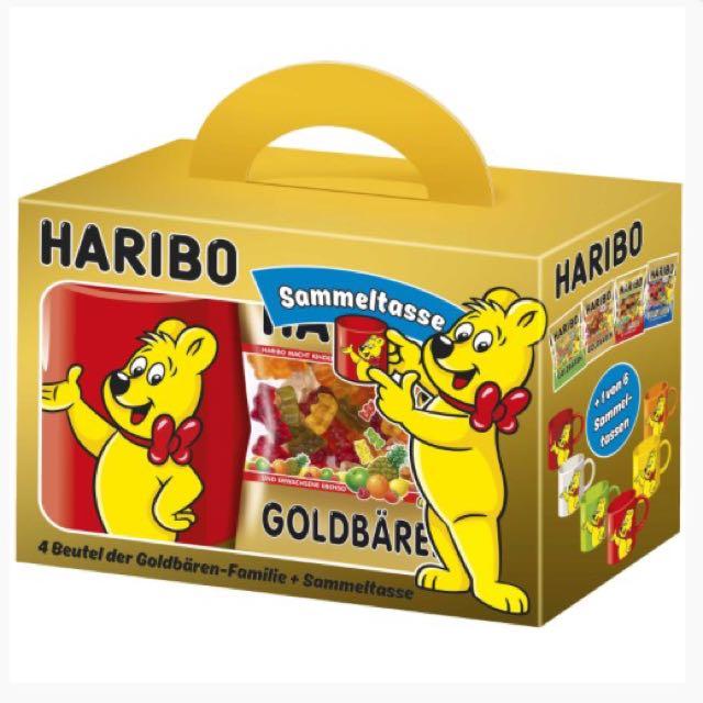 Haribo 經典德國小熊軟糖🐻馬克杯 禮盒組🎁 內含四種口味小熊軟糖共395g