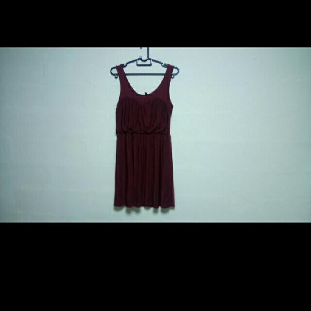 H&M Divided Maroon Dress