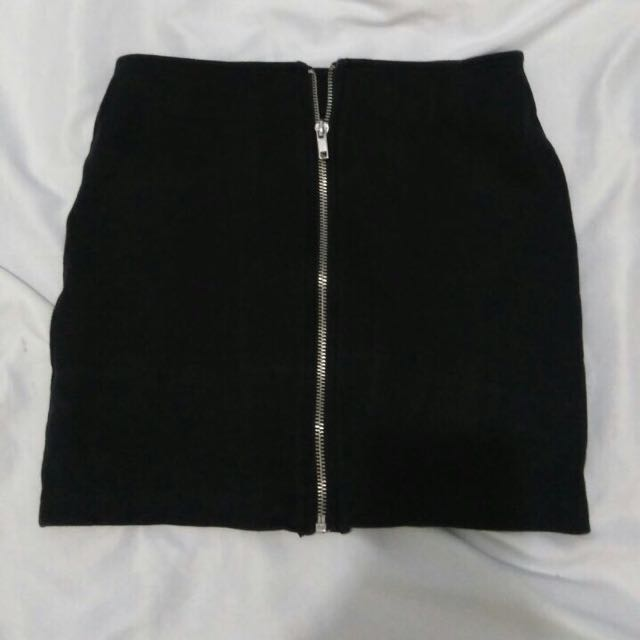 H&M Divided Mini Skirt Black Size 34
