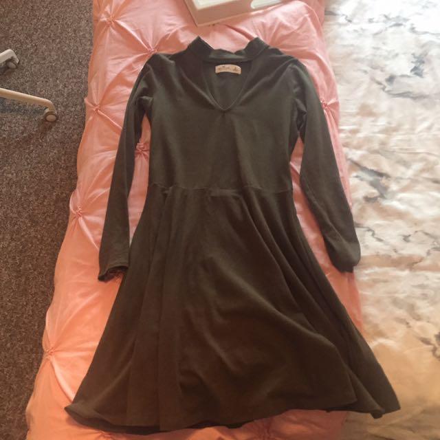 Hollister Green Cutout Dress