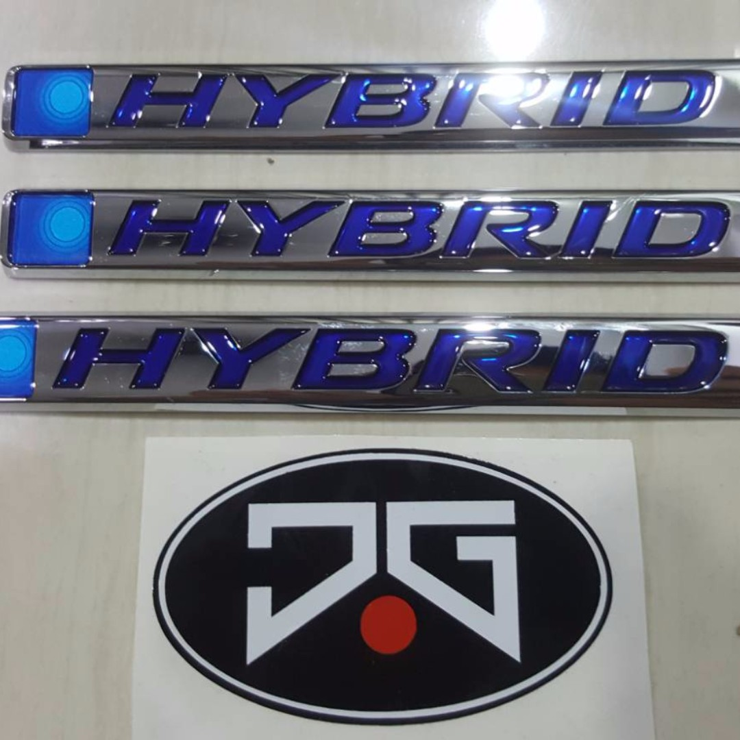 Honda Grace City GM6 Jazz Fit GK Vezel HRV Hybrid Emblem Auto