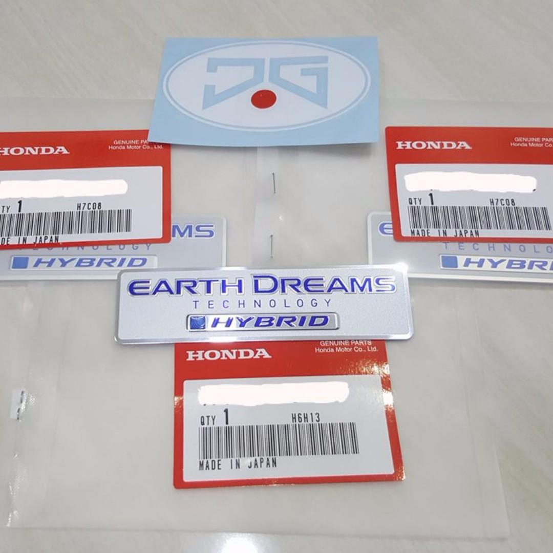 Honda Grace City Jazz Fit Vezel Hrv Earth Dreams Technology Hybrid Emblem Auto Accessories On Carou