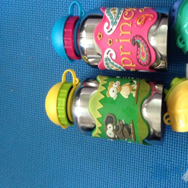 美國i.d.gear兒童水壺 不鏽鋼 吸管練習水壺