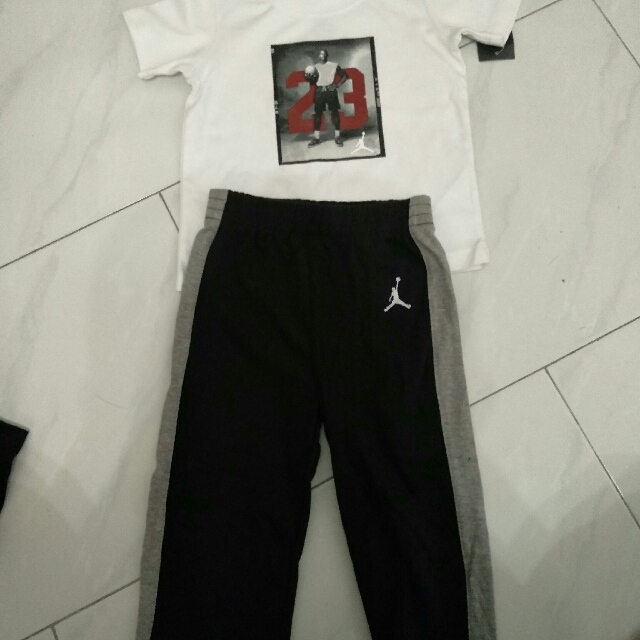 7d1e6561c1d56a Jordan jumpman baby toddler 2 year 24 months tee pants cotton sweats ...