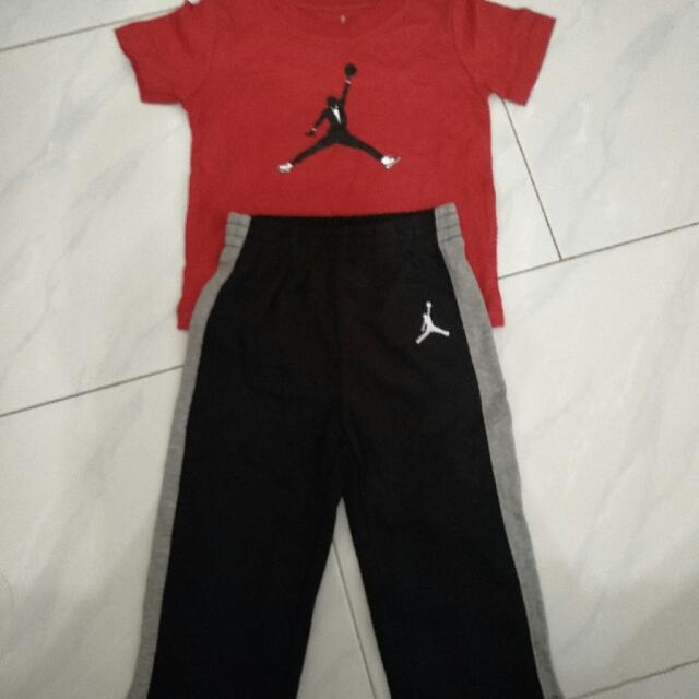cd11ee55ea84 Jordan jumpman basketball tee pants set red white grey black blue ...