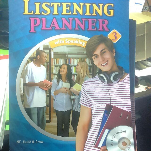 Listening planner with speaking#好書新感動