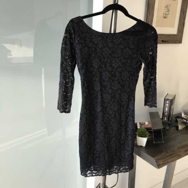 Little Black Dress With Lace Overlay
