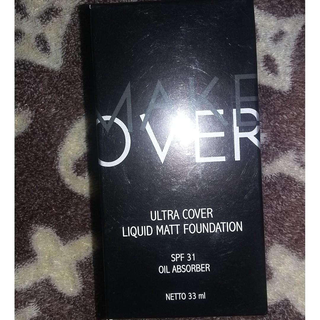 Make Over Ultra Cover Liquid Foundation Kesehatan Kecantikan Matt Rias Wajah Di Carousell