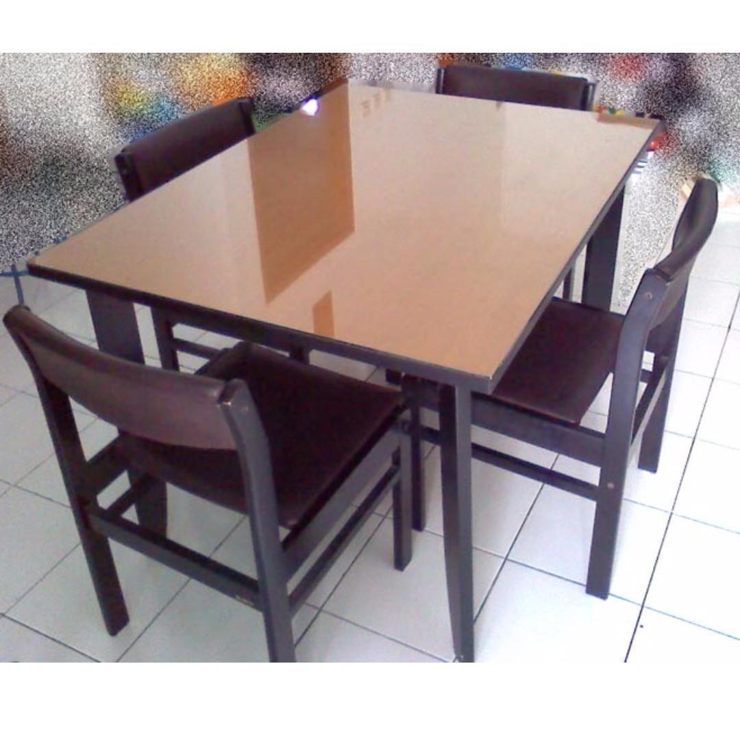 Meja Makan SIRO 4 Kursi Perabotan Rumah Di Carousell