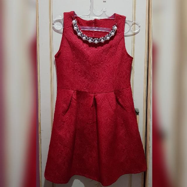 Mini classy red dress