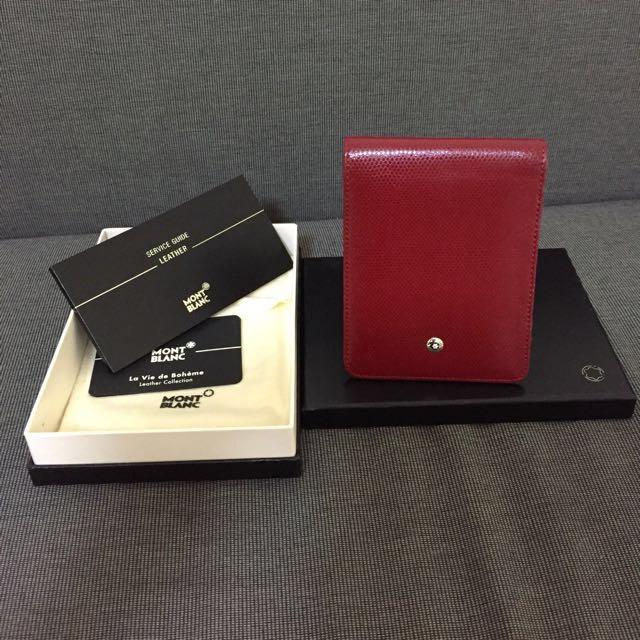 Montblanc ladies business card holdernotepad authentic luxury photo photo colourmoves